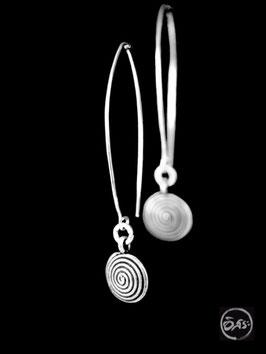Boucles d'oreilles en argent spirales 09