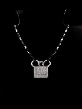 Collier, cadenas Hmong en argent 15