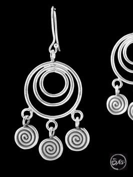 Boucles d'oreilles en argent spirales 17