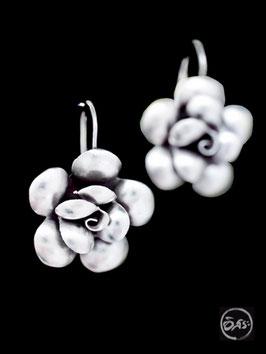 Boucles d'oreilles en argent fleurs 14