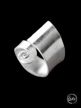 Bague en argent spirale 07