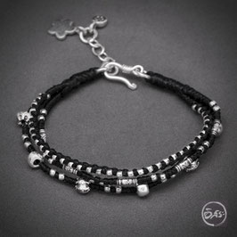 Bracelet souple en argent 58