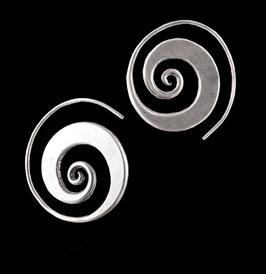 Boucles d'oreilles en argent spirales 28