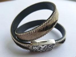 Bracelet cuir zébré SUR MESURE