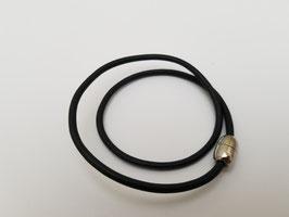 Bracelet cuir noir 2 tours