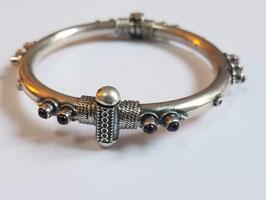Bracelet argent et grenats (B02)