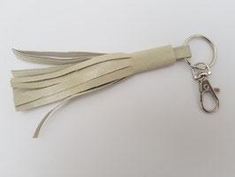 Pompon ivoire nacré, bijoux de sac (M)
