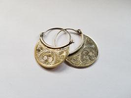 Boucles d'oreilles demi-lune