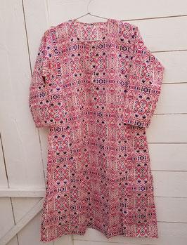 Tunique rose et motifs mi longue (TU03)