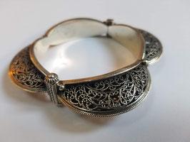 Bracelet argent ciselé (B03)