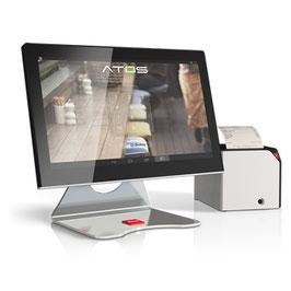 ATOS 15 Elegant inclusa stampante Print F + Tastiera 40 Tasti service + Display Matrix + Cassetto portamonete