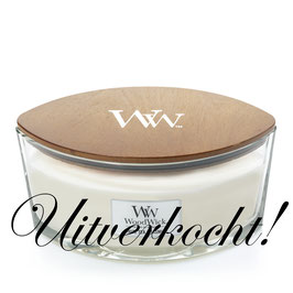 Woodwick Ellipse white tea and jasmine ***uitverkocht***