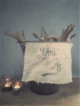 "Shabby doek ""you and me"" klein"