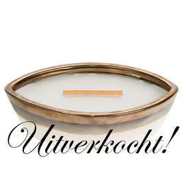 Woodwick Ellipse ceramic warm wool ***uitverkocht***