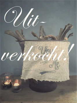 "Shabby doek ""you and me"" klein ***uitverkocht***"
