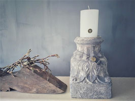 Stompkaars wit D 10 cm, H 15 cm (Rustic candle Brynxz)