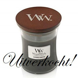 Woodwick Medium candle evening bonfire ***uitverkocht***
