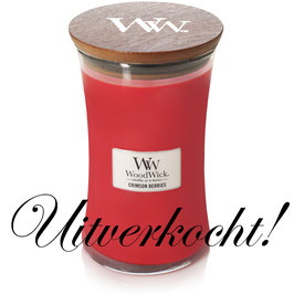 Woodwick Large candle crimson berries ***uitverkocht***