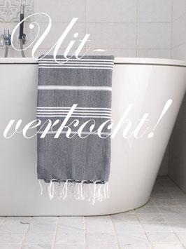 Hamamdoek XL zwart/wit ***uitverkocht***