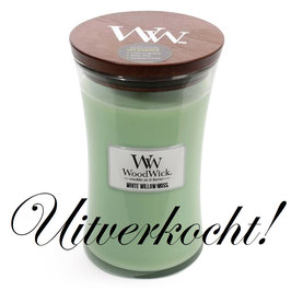 Woodwick Large candle white willow moss ***uitverkocht***
