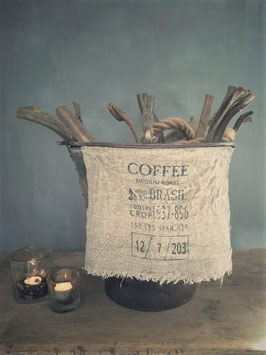Shabby doek coffee klein
