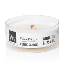 Woodwick Petite candle white tea and jasmine