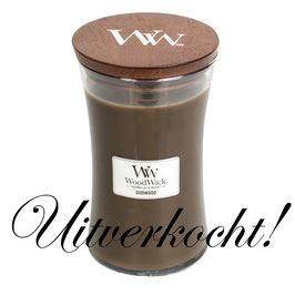 Woodwick Large candle oudwood ***uitverkocht***