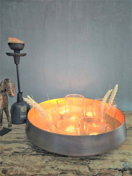 Decoratieve metalen schaal