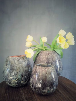 Mooie geglazuurde aardewerk potten (diverse afmetingen)