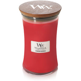 Woodwick Large candle crimson berries