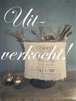 Shabby doek coffee klein ***uitverkocht***