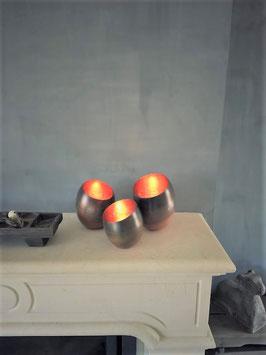 Metalen windlichten Egg collection (set van 3)