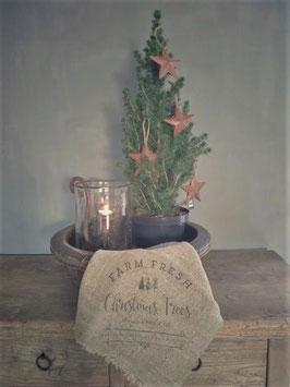 """Shabby doek groot """"Christmas Trees"""""""
