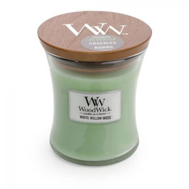 Woodwick Mini candle white willow moss