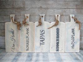 Hapjes- en presenteerplank van steigerhout (klein)