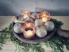Slinger met 7 glazen kerstballen