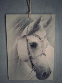 Houtprint paard