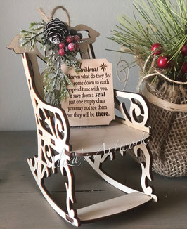 Christmas in Heaven rocking chair