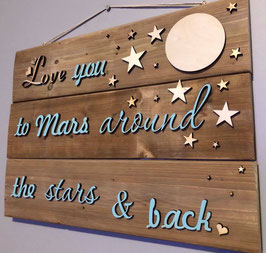 Love you to Mars wall decor