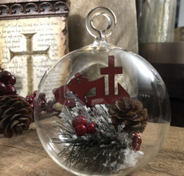 Christmas Glass ornament.