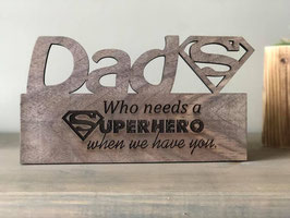Custom design walnut wood Father's Day plaque