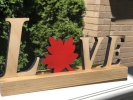 Love - with maple leaf
