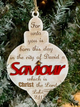 Saviour Christmas ornament
