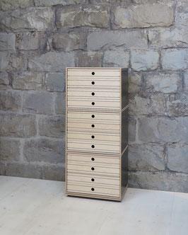 xilobis Turm mit Schubladen Holz natur