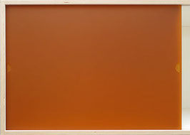 Glazed acrylic glass burnt orange