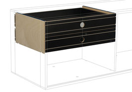 2 Small Drawers top black
