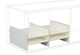 Divider for 6 C4 compartments white