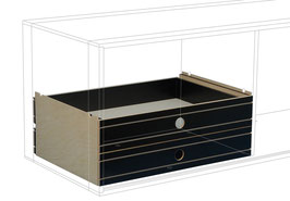 2 Small Drawers bottom black