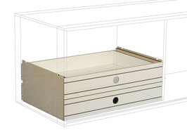 2 Small Drawers bottom white