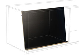 Brochure display black